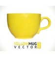Yellow mug empty blank for coffee or tea isolated vector image