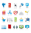 Hotel and motel services icons 2 vector image