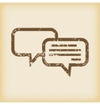 Grungy chatting icon vector image