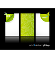 nature gift cards vector image