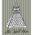 All seeing eye pyramid symbol vector image
