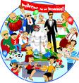 funny wedding vector image vector image