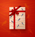 Valentines card gift box 4 vector image