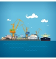 Unloading Oil from the Tanker vector image