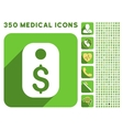 Price Tag Icon and Medical Longshadow Icon Set vector image