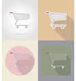 food objects flat icons 16 vector image vector image