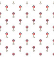 baby rattle pattern seamless vector image