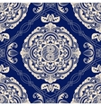 Blue geometric seamless pattern vector image