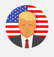 character portrait of donald trump on american vector image