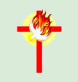 Cross n Holyspirit vector image