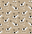 cute christmas seamless pattern with hand drawn vector image
