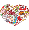 Romantic and dating vector image