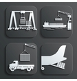 shipment set vector image