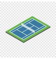 tennis court isometric icon vector image vector image