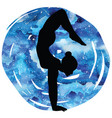 women silhouettearm balance scorpion yoga pose vector image