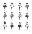 business people icons set man vector image vector image
