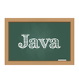 Java text on chalkboard vector image