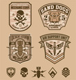 Desert military patches vector image