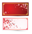cherry blossom template3 vector image
