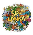 Sri Lanka hand lettering and doodles elements vector image