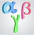 Alpha beta gamma greek alphabet vector image