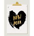 Black Heart New York Poster vector image