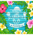 Enjoy the summer holiday vector image
