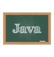 Java text on chalkboard vector image