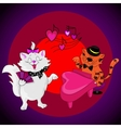 Love Cats Sing vector image