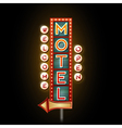 Neon sign motel vector image