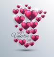 valentines background 3 vector image