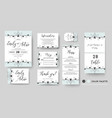 wedding invite save the date rsvp card set vector image