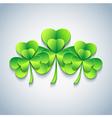 Modern Patricks day background 3d leaf clover vector image vector image