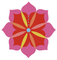 Lotus flower emblem design vector image