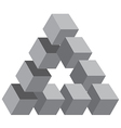 Cubed triangle vector image vector image