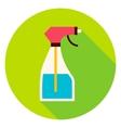 Water Spray Tool Circle Icon vector image