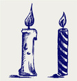 Set candles vector image