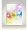 Business brochure template flower colorful design vector image