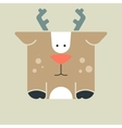 Flat square icon of a cute deer vector image