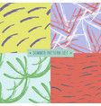 handdrawn seamless summer pattern collection vector image