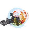 Kart race vector image