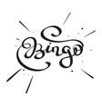 lettering - bingo- vector image