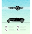 Retro sport racing car vintage outline style vector image