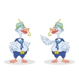 Two geese divers talk vector image