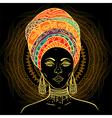 beautiful african woman in turban vector image