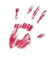 hand print vector image