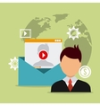 Digital and social marketing vector image