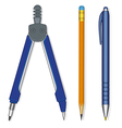 Pen Compasses and Pencil vector image vector image