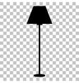Lamp simple sign Flat style black icon on vector image