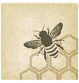 Bee old background vector image